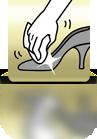 Mit einem Tuch nachpolieren (Damenschuh) - PL
