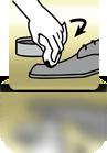 Schuhcreme mit Tuch auftragen - PL