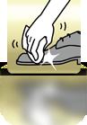 Schuh mit Tuch polieren - PL