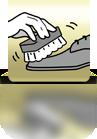 Schuh mit Bürste reinigen - PL