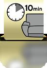 10 Minuten einwirken lassen (Sofa) - PL
